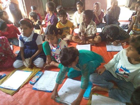 children taking tests