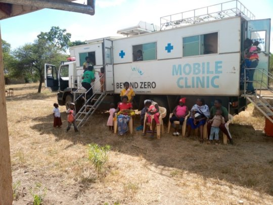 Using the Beyond Zero truck in a mobile clinic.