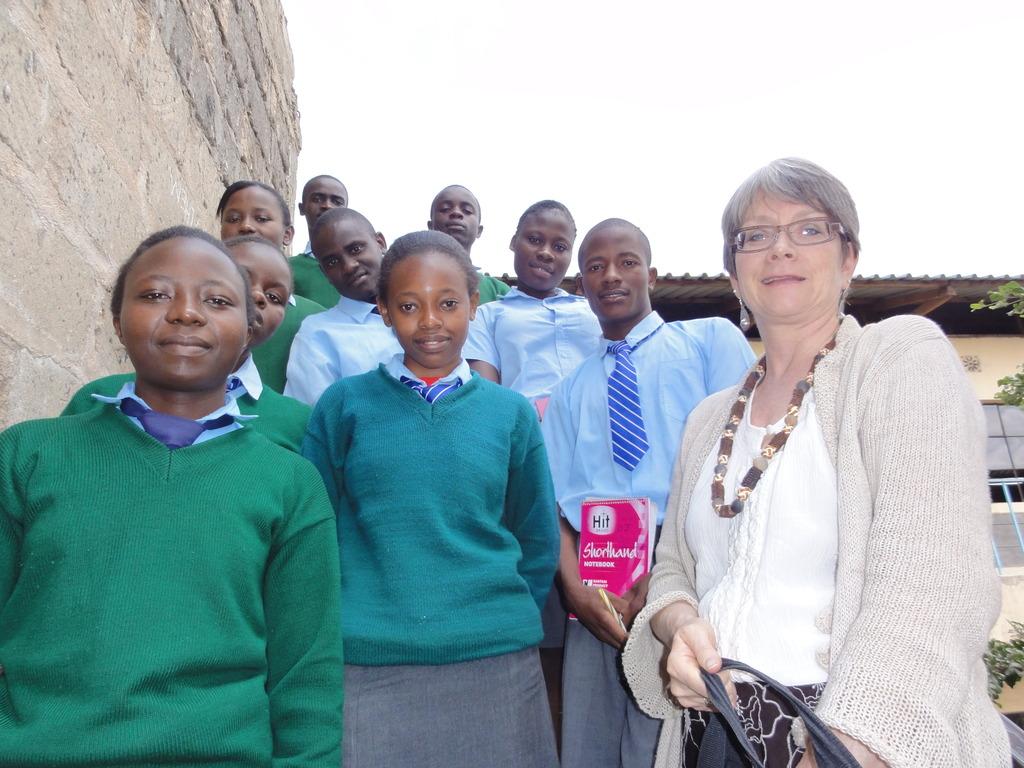 GEF scholars at St. Mathew school with GEF US - ED