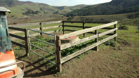 New fence and gate for 20,000-gallon water cistern