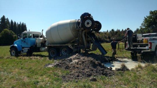 Irrigation work at RRR satellite