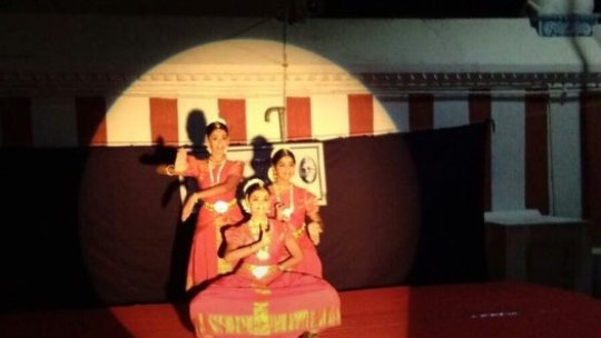 Performing at a Temple