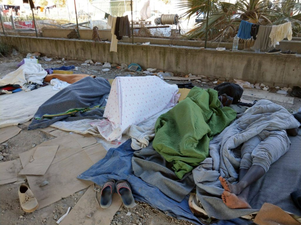 The current living conditions in Ventimiglia
