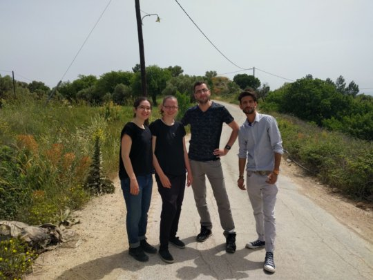 Our field researchers in action in Chios, Greece