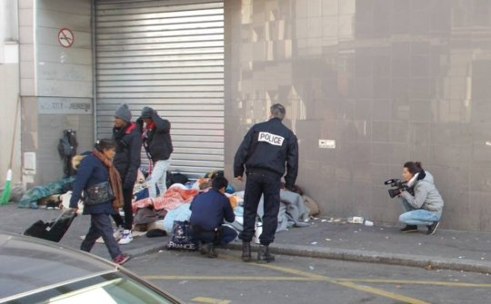 Refugees and displaced people in Paris