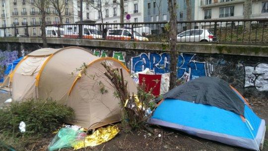 Tents in Paris