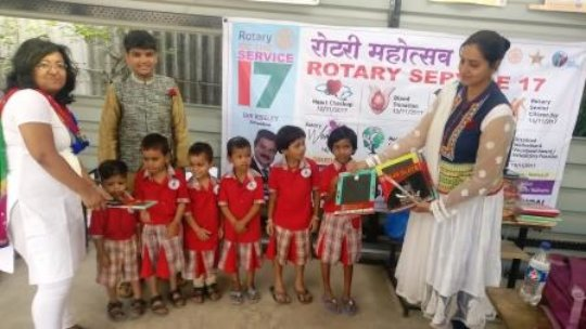 RotaryClubSatelliteCity celebrating Children'sDay