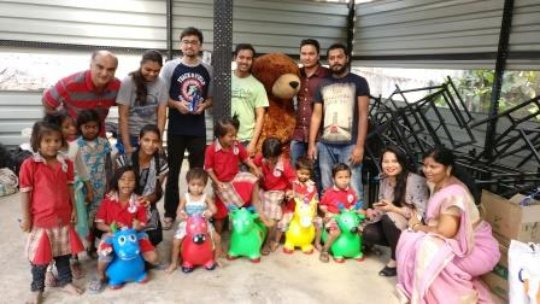 Donation of human adult size Teddy to our TinyTots