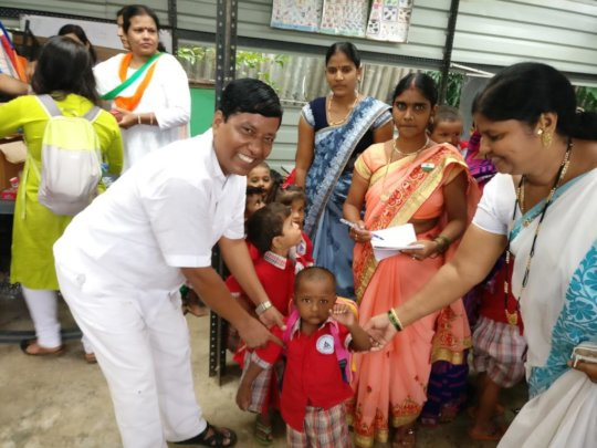 Our Tiny Tots being felicitated
