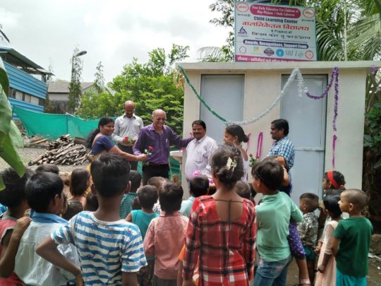 Felicitation of Chief Guest- Toliet Inauguration