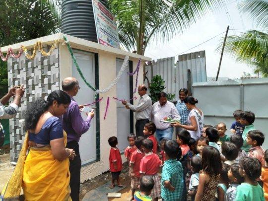 Inauguration of New Toilet facility