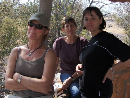 Julie (Founder of AFADU), Pam & Ezelle