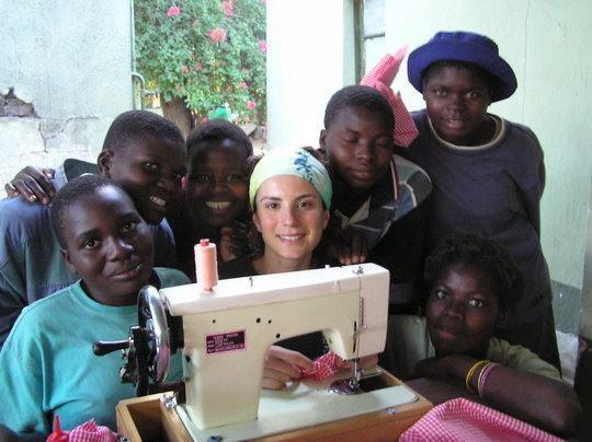 The first ever Sewing Lesson!