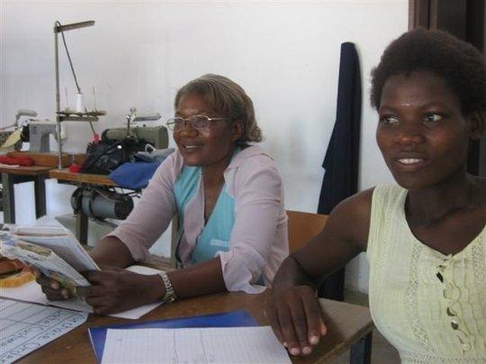 Mrs Chamuka (BSG tutor) & Chippo (BSG Marketing)