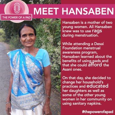 Hansaben's Story