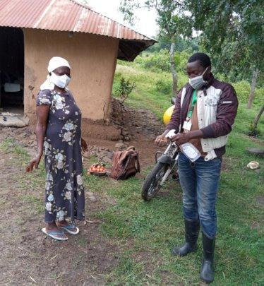 Trees Staff Visits Farmer w/ Social Distancing