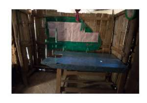 The delivery room in the Burmese camp