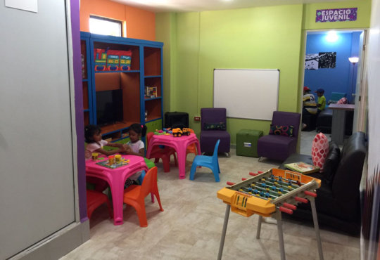 Area for children and other oner for teenagers