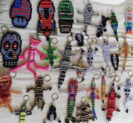 Keychains Made by the Children of the Foundation