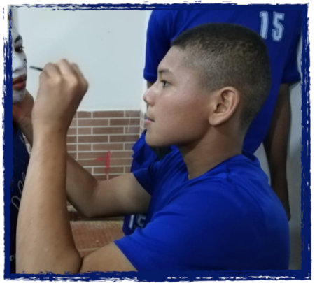 Daniel Helping the Little Ones with Face Paint