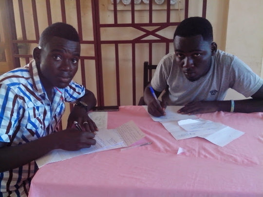 Gilbert and Ebenezer write Thank you letters