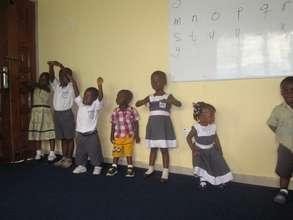 Preschoolers at PAAJAF Education Institute