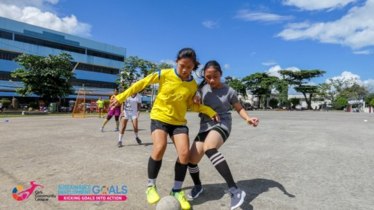 Girls playing in the GCL Tacloban