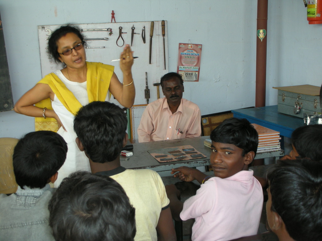 Children in Dindigul receiving training