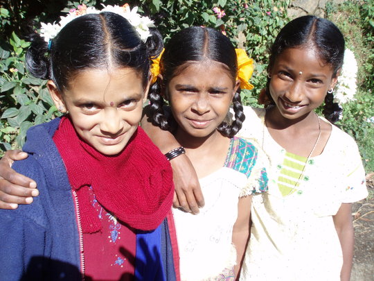 Some of the children being supported in Vilpatti
