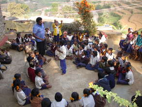 Children at Vilpatti Village Project