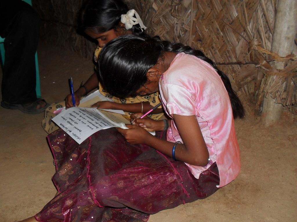 Children at a Community Education Centre