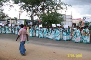 A march against child labour in textile mills