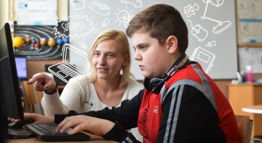 Simona and the future IT specialist.