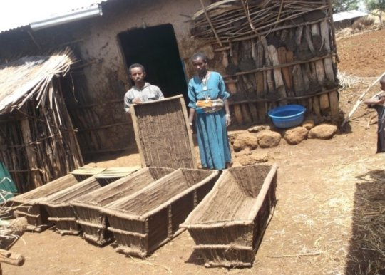 Hives can be made locally, ensuring sustainability