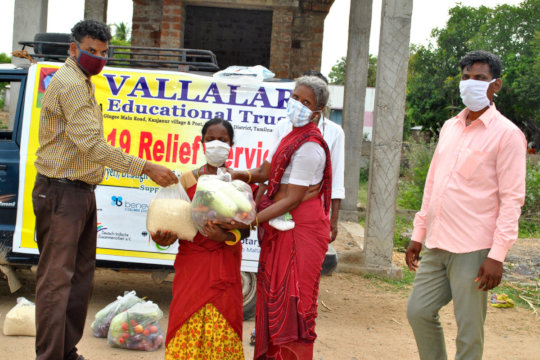 Leprosy women receiving support