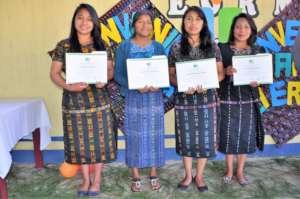 The four graduates from Chuiquel