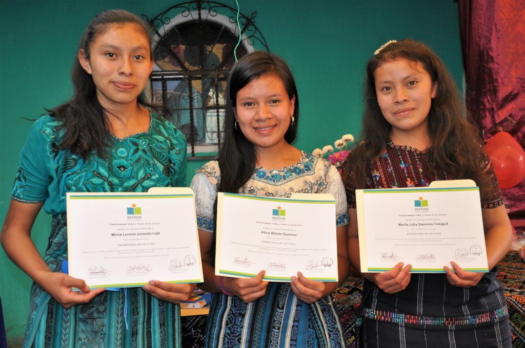 The three graduates from Concepcion
