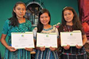 The three graduates from Concepcion