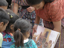 Teen reads to children in her community