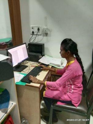 Pandita at her evening job