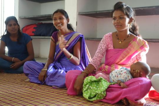 Young tribal women coming for livelihood training