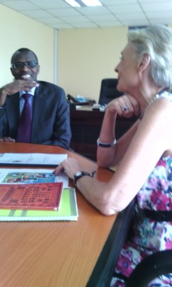 Katy with the Hon. Minister of Education