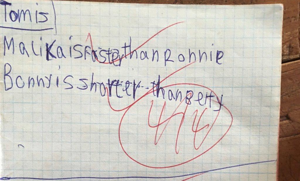Example: P3 English Writing