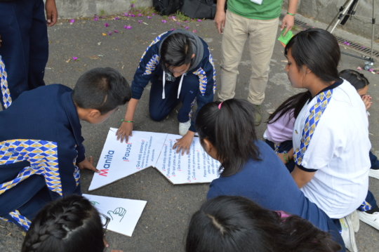 Students working for the prevention of violence