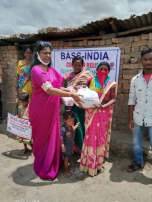 BASS Vice president distributing Covid Relief