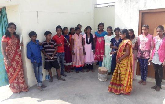 Some of migrated children in the work-sit school