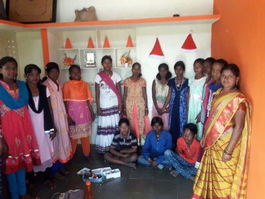 Some of the children attending  work sit school 19