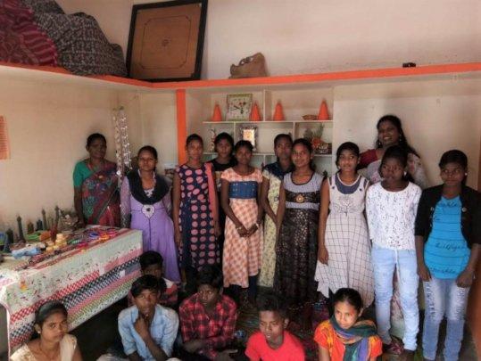 Children, Sathya Haveela, instructor and children