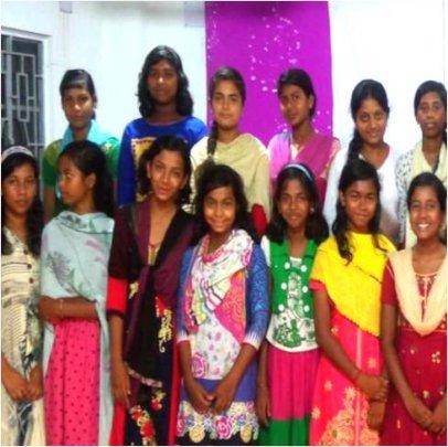 Srabana* (2nd from left)  and her Nayantara mates