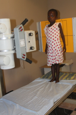 Nomthandazo ready for her x-ray